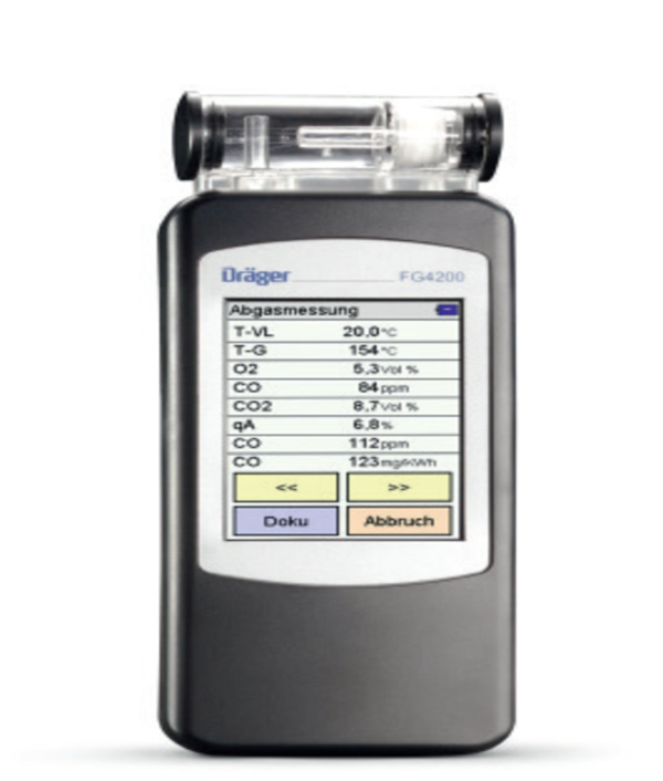 East Wind Safety - Draeger FG4200 flue gas analyser for service and maintenance work in UAE, Dubai and Abu Dhabi